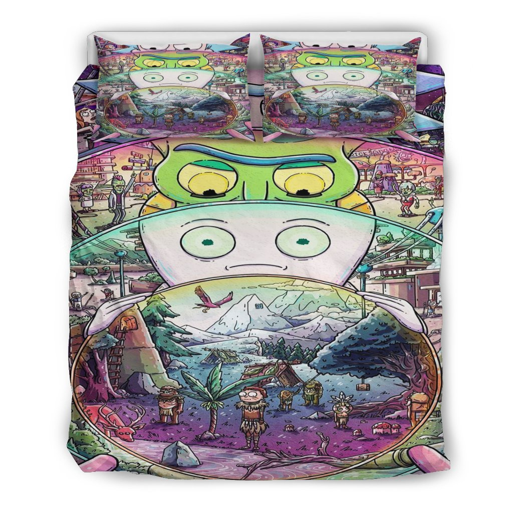 Rick And Morty Bedding Set 7 Gearclover